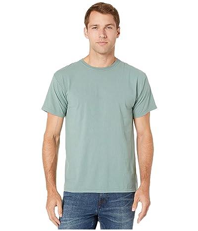 Hanes ComfortWashtm Garment Dyed Short Sleeve T-Shirt (Cypress Green) Clothing