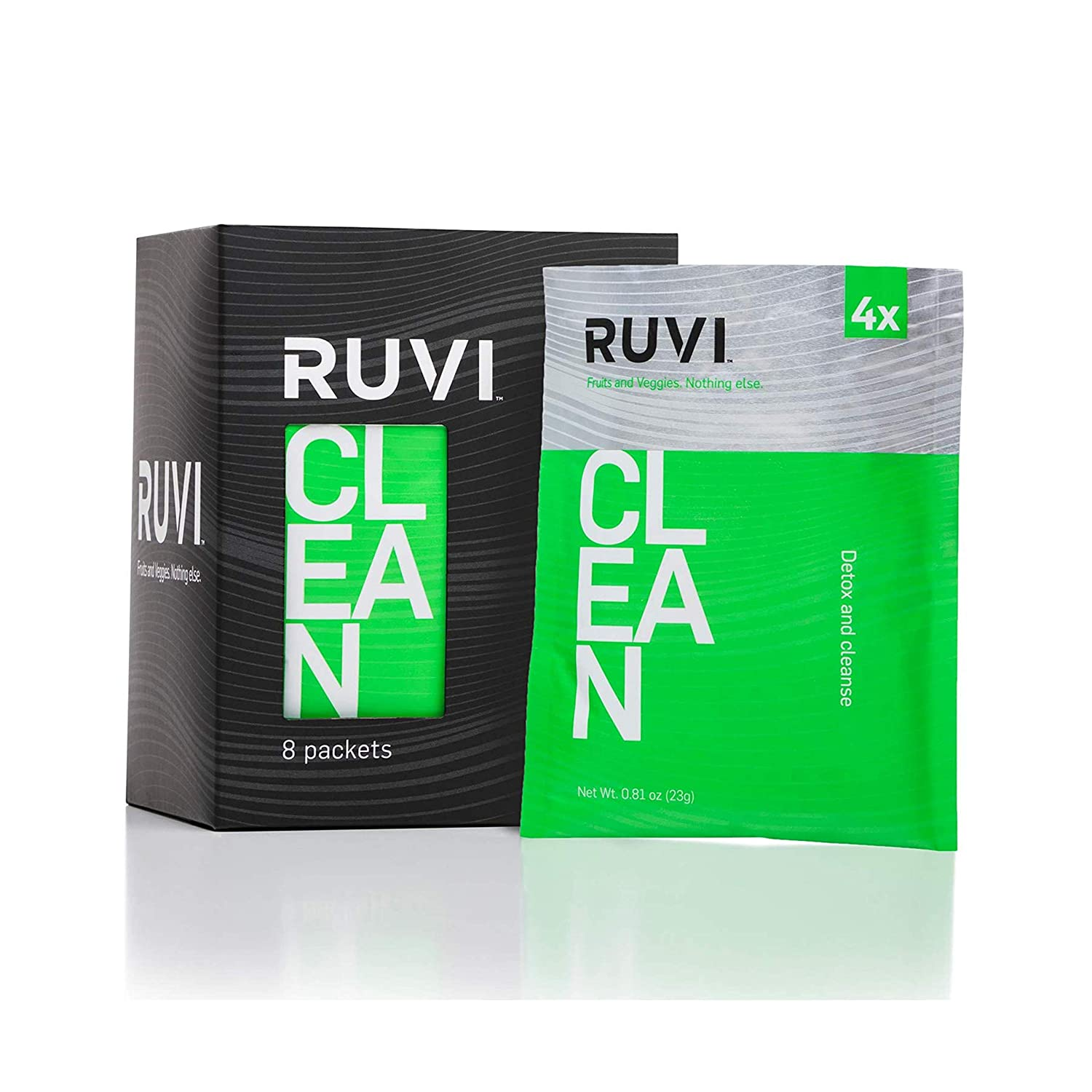 Ruvi Natural Detoxing Smoothies   Fruit and Vegetable Drink Mix   Freeze-Dried Juice Powder   Delicious Flavor Variety Packs   On-the-Go Healthy Snack   Clean-Ingredients   Vegan   Gluten-Free & Non-GMO   No Additives