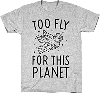 LookHUMAN Too Fly for This World Athletic Gray Men's Cotton Tee