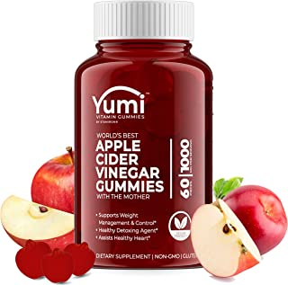 Apple Cider Vinegar Gummies with Raw Organic Acv from The Mother, Paired with Vitamin B, Pomegranate & Beet Juice Powder t...