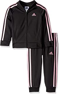 Adidas Girls' Tricot Zip Jacket and Pant Set