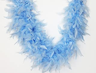 Cynthia's Feathers 65g Chandelle Feather Boas Over 80 Colors & Patterns to Pick Up (Light Blue)