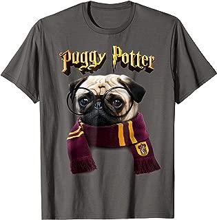 Puggy Potter magic wizard Pug Shirt - Funny Pug Tshirt