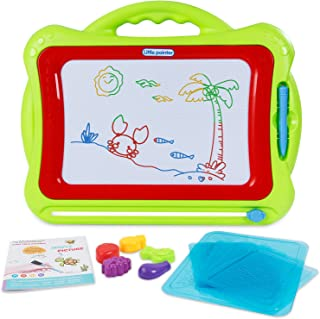 SGILE Large Magnetic Doodle Board, Magnetic Erasable Drawing Pad Gift for Kids Toddler, Green
