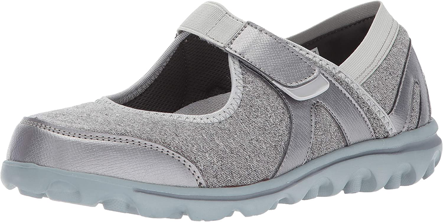 Propet Women's A surprise price is realized Max 81% OFF Onalee Mary Jane Wide Silver Grey Flat 6