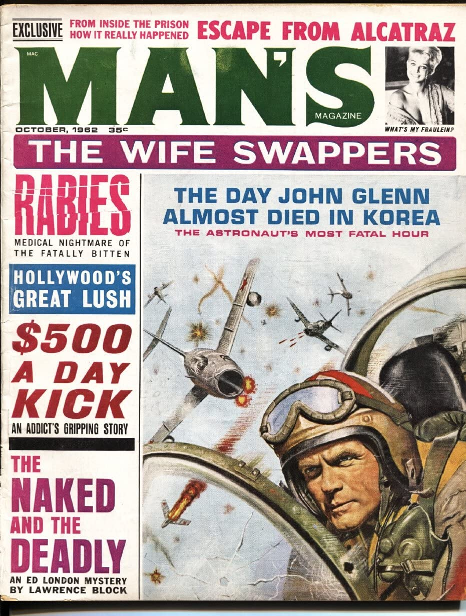 Man's Magazine October 1962- from Max 89% OFF Large-scale sale Alcatraz-che Glenn-Escape John