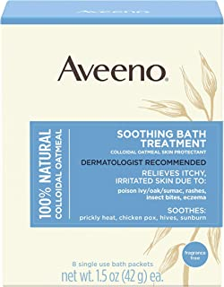 Aveeno Soothing Bath Treatment with 100% Natural Colloidal Oatmeal for Treatment & Relief of Dry, Itchy, Ir...