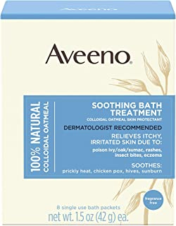 Aveeno Soothing Bath Treatment with 100% Natural Colloidal Oatmeal for Treatment & Relief of Dry, Itchy, Irritated Skin Du...