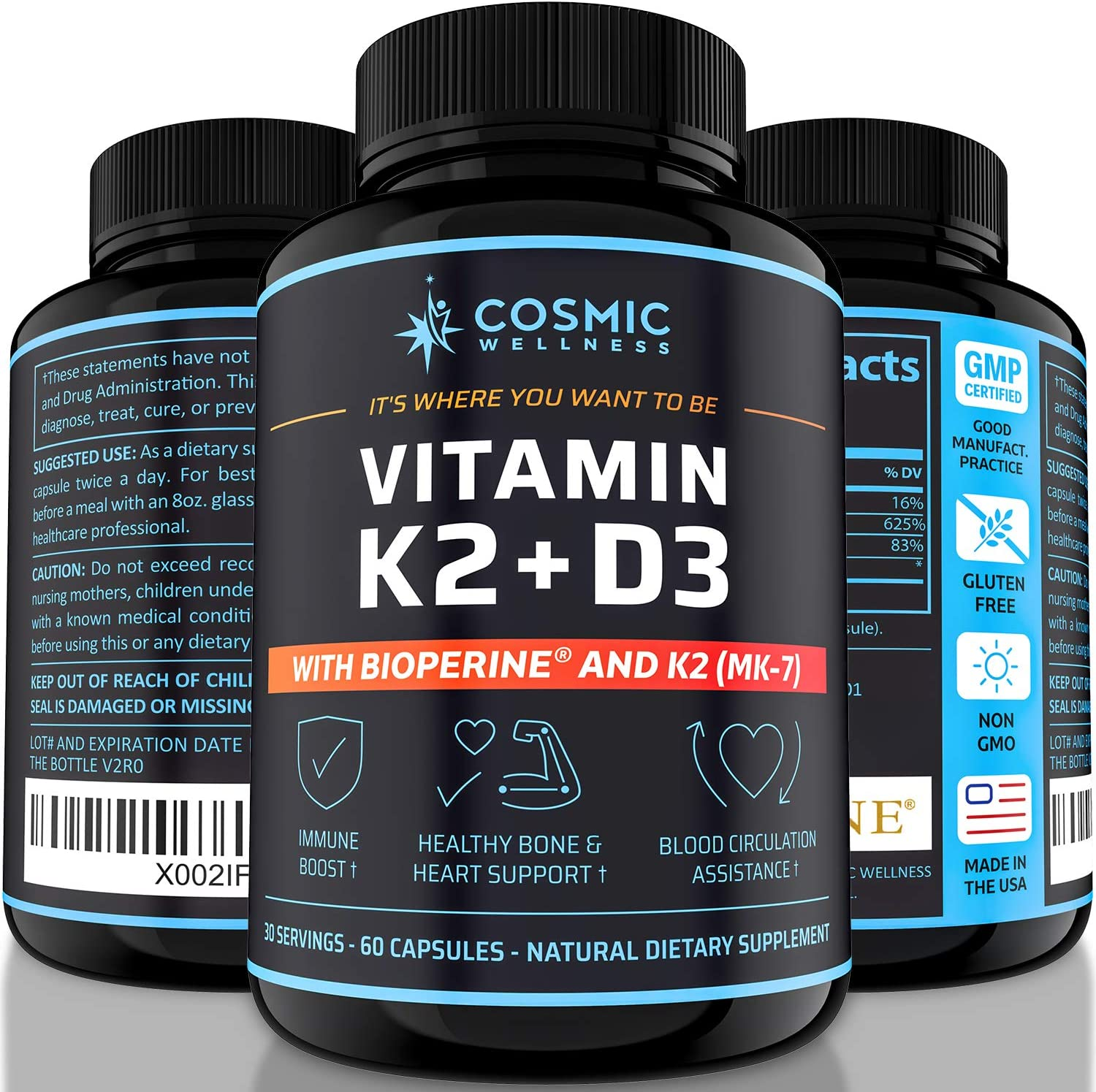 K2 National products D3 Vitamin Supplement Miami Mall 5000 Iu - Bones Healthier for Blood H