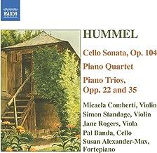 Hummel: Piano Trios / Piano Quartet In G Major / Cello Sonata