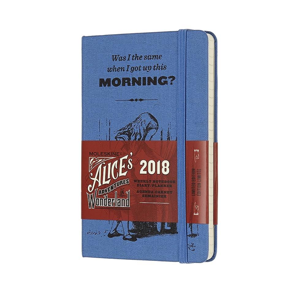 赤ちゃんモーテルアートMoleskine Limited Edition Alice in Wonderland, 12 Month Weekly Planner, Pocket, Blue (3.5 x 5.5)