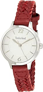 Timberland Womens Digital Watch, Analog Display and Leather Strap T TBL15265LS-01B
