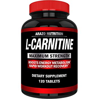 Super Strength L-Carnitine 1000MG Servings Plus Calcium for Boosted Metabolism and Improved Muscle Gain - Arazo Nutrition USA