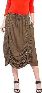 Globus Ruched Detail Calf Length Skirt