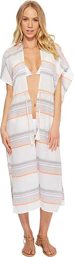 Sunset Stripe Midi Cover-Up