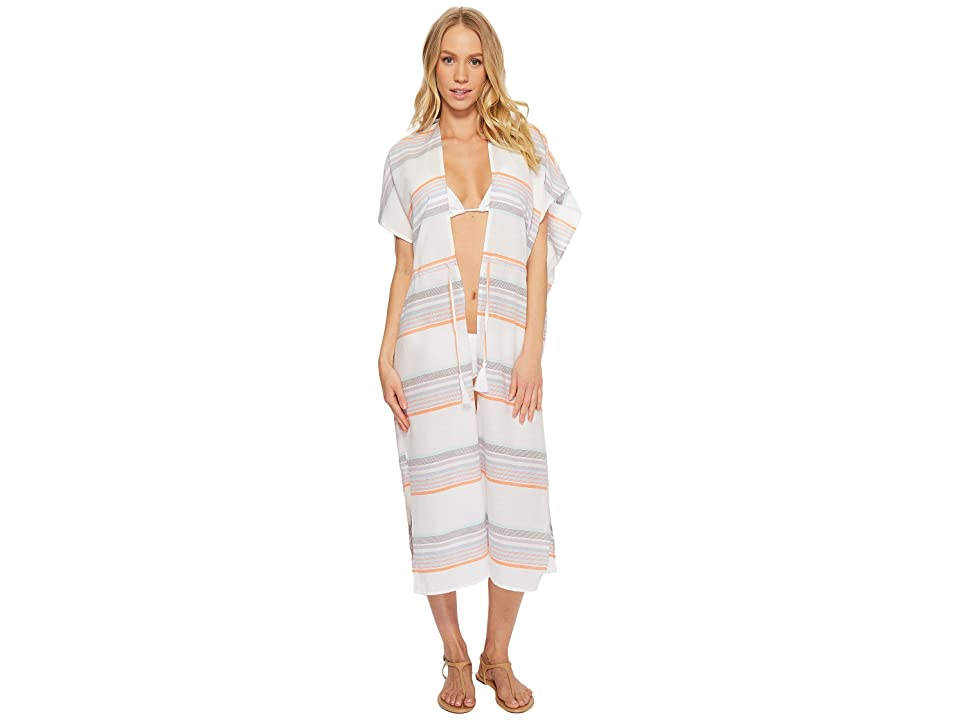 Echo Design Sunset Stripe Midi Cover-Up (White) Women