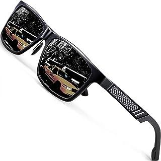 ATTCL Men's Hot Retro Driving Polarized Sunglasses Al-Mg...