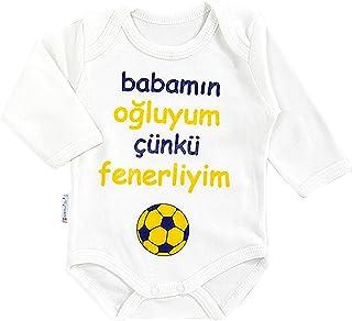 Minisse Fenerbahce Baby Body Fanatik Bebek Taraftar Tulum Babamn Oluyum Çünkü Fenerliyim/Größe 56 62 68 74 / Istanbul Türkei