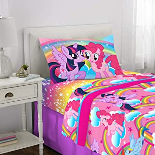Franco Kids Bedding Super Soft Sheet Set, 3 Piece Twin Size, Hasbro My Little Pony