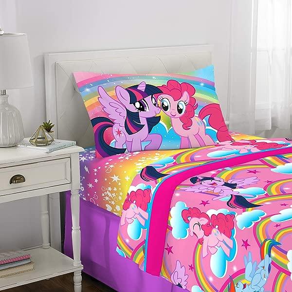 Franco Kids Bedding Super Soft Sheet Set 3 Piece Twin Size Hasbro My Little Pony