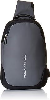MARK RYDEN Casual Genuine Oxford Notebook Shoulder Bag Bookbag Backpack Messenger Bag Shoulder Bag Laptop Case Handbag Business Briefcase Multi-Functional Travel Rucksack for Men/Women Sports Cross body Bag for College Student Work Men & Women (grey)