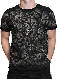 All Over Skulls Dark Fantasy Short Sleeve T-Shirt