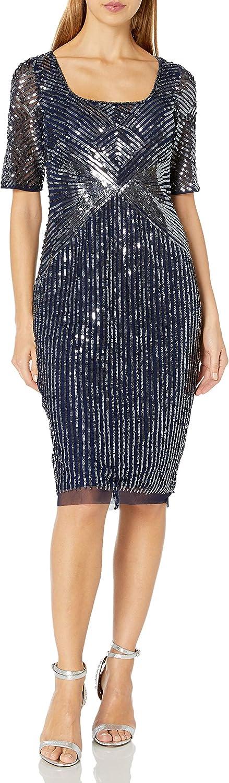 Adrianna Papell Women's Beaded Short Dress