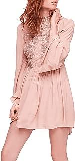 Womens Divine Lace Inset Mini Casual Dress