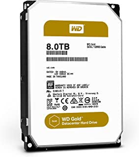 WD Gold 8TB Datacenter Hard Disk Drive - 7200 RPM Class SATA 6 Gb/s 128MB Cache 3.5 Inch - WD8002FRYZ