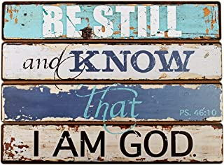 Be Still and Know Decoupaged Wooden Wall Art - Psalm 46:10, Lighthouse Collection
