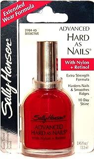 Sally Hansen (1) Bottle Advanced Hard As Nails with Nylon+Retinol Nail Polish Extra Strength Formula - Seductive #2764-40
