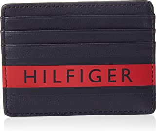 Tommy Hilfiger Color Mix Cc Holder Men Wallets, Card Cases & Money Organizers, Navy/Tommy Red, Am0Am04818