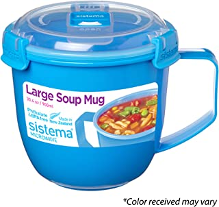 Sistema 21141 To Go Collection Soup Mug, Large, Varied, 1 count