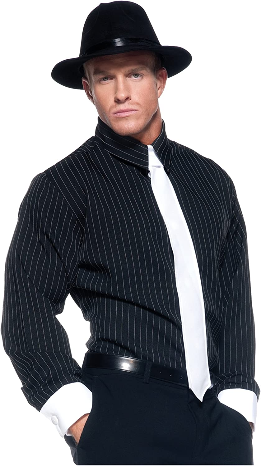 New Pin Limited price Striped shop Adult Gangster Shirt Costume