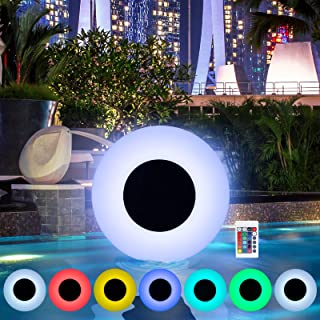 Afirst Floating Solar Pool Light RGB Color Changing Waterproof Outdoor Decorations for Swimming Pool, Patio, Garden, Lawn,...