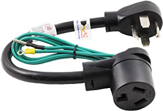 AC WORKS 30 Amp 4-Prong Dryer Wall Outlet Adapter (To 3-Prong 30A Dryer Plug)