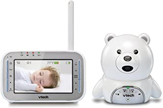 VTech VM346 Bear Video Baby Monitor with Automatic Infrared Night Vision, Soothing Sounds & Lullabies, Temperature Sensor ...