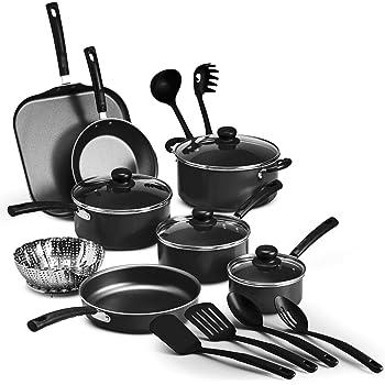 Batería de Cocina Primaware de 18 piezas negra