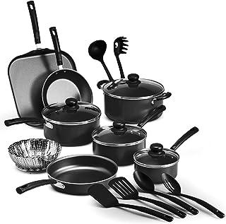 Tramontina PrimaWare 18-Piece Nonstick Cookware Set - Gray