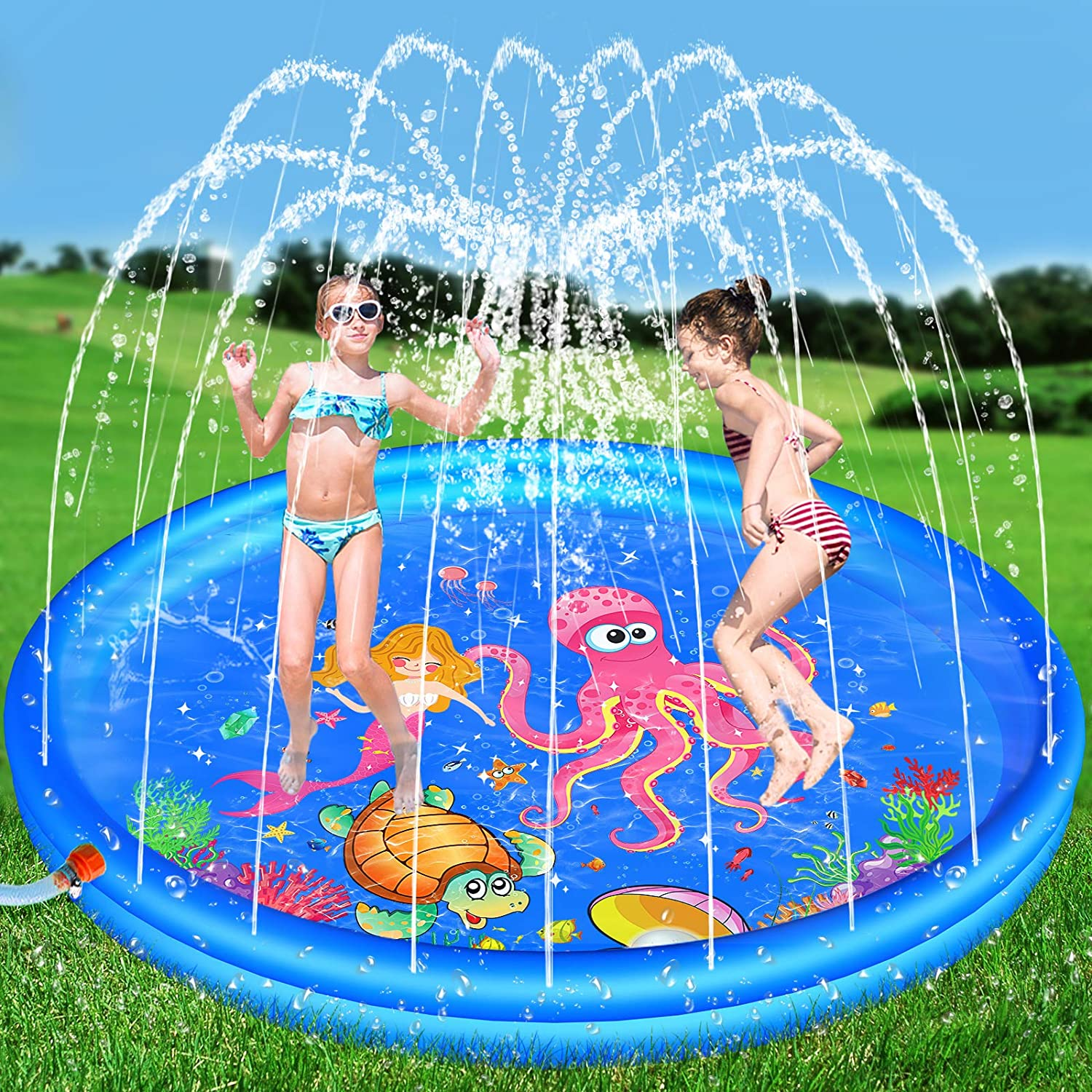 Hamsoo 68'' Splash Beauty Factory outlet products Pad Play Mat for Kids Age 8 5 Spri 3 6 7 2 4