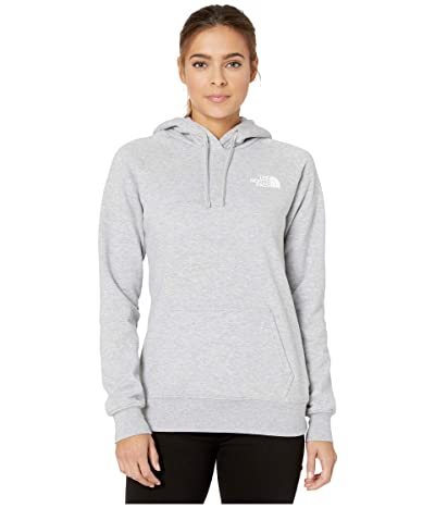 The North Face Red Box Pullover Hoodie (TNF Light Grey Heather/TNF White Foil) Women