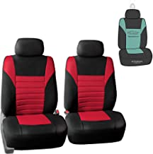 FH Group FB068102 Premium 3D Air Mesh Seat Covers Pair Set (Airbag Compatible) w. Gift, Red/Black Color- Fit Most Car, Truck, SUV, or Van