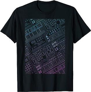 Hombre Sintetizador para Músico y DJ de musica electrónico Camiseta