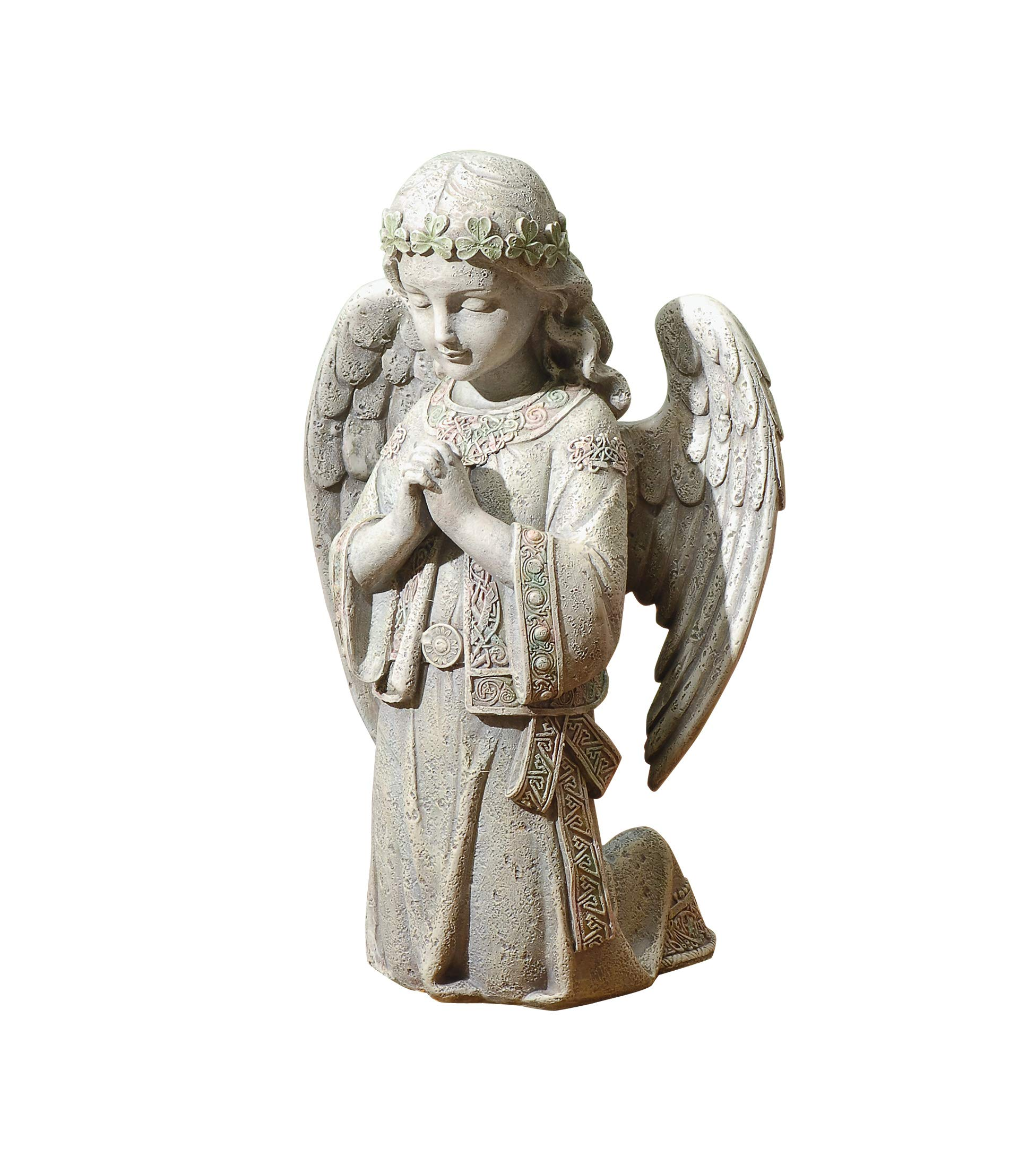 Joseph S Studio By Roman Collection 12 25 H Celtic Kneeling Angel Made From Resin High Level Of Craftsmanship And Attention To Detail Durable And Long Lasting Home Kitchen