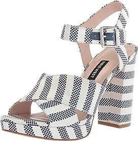 14e01354076 Jimar Platform Block Heel Sandal