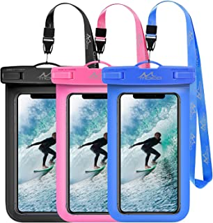MoKo Waterproof Phone Pouch [2 Pack], Universal Waterproof Phone Case Dry Bag with Neck Strap for iPhone 11/11 Pro/11 Pro ...