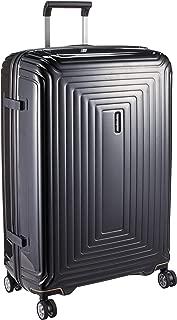 Samsonite Aspero Hard Side Spinner Luggage, Metallic Black, 75 Centimeters