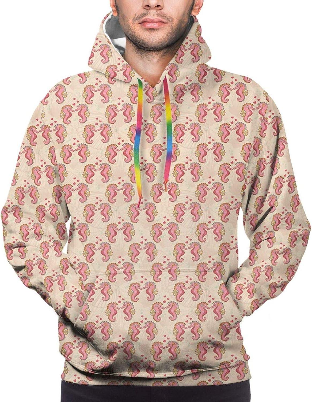 Men's Hoodies Sweatshirts,Romantic Flower Petals Blooms Nature Essence Beauty Bouquet Image
