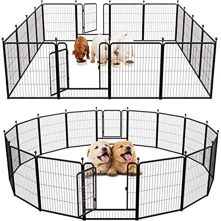 FXW Outdoor Dog Playpen Exercise Pen Dog Fence Outdoor Pen for Large/Medium/Small Dogs Pet Puppy Playpen Oudoor and Indoor Playing Fence