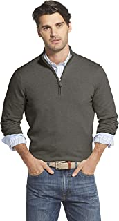 Men's Premium Essentials Quarter Zip Solid 12 Gauge Sweater